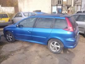 Peugeot 206. Europa,melynas ir sidabrinis, 2.0i 100kw, 2.0hdi