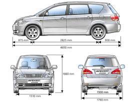 Toyota Avensis Verso, 2.0 l., mpv / minivan