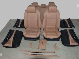 BMW 7 serija apdailos detalės, durų apmušalai, sėdynės