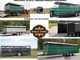 Palms Didžiausias gyvulių gabenimo priekabų pasirinkimas PT4650HS 2019 m., livestock