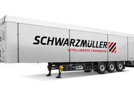 Schwarzmüller Triašė puspriekabė judančiom g