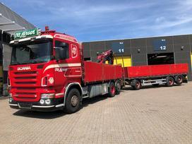Scania R500 *HIAB 200C-3* + priekaba, su kranu